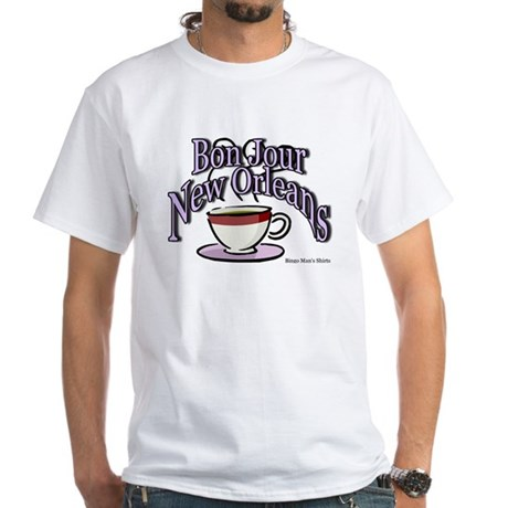 Bon Jour New Orleans White T-Shirt