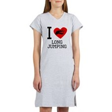 I Heart Long Jumping Women's Nightshirt