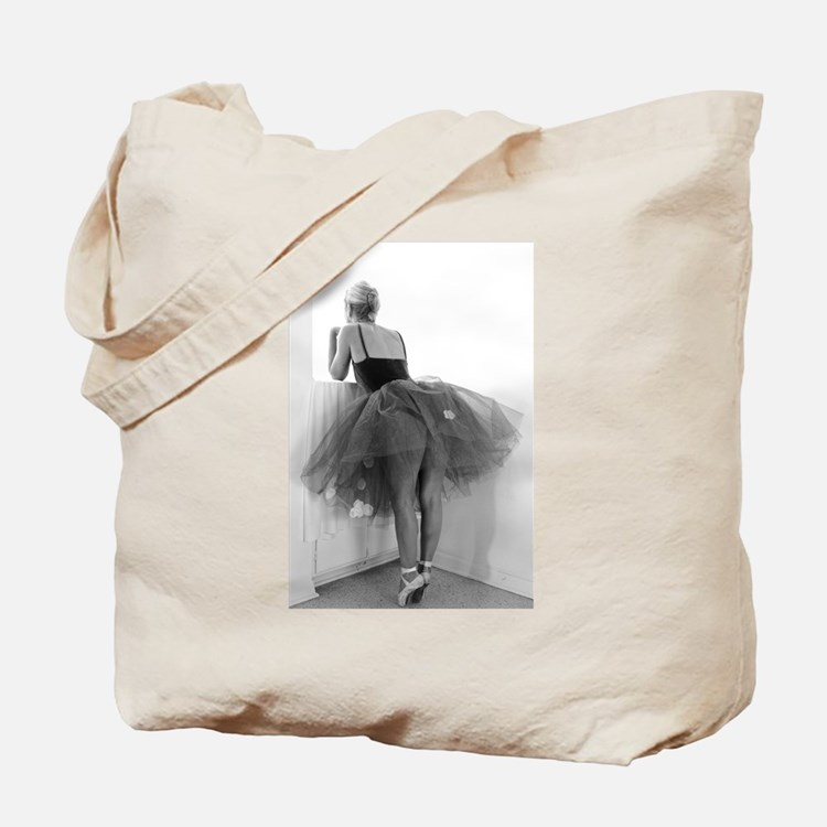 Ballerina Waiting Offstage Tote Bag