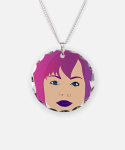 Purple Chick For Invisible Illness Awareness Neckl