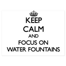 Keep Calm by focusing on Water Fountai Invitations