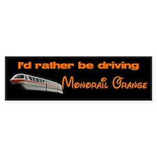 Monorail Orange Bumper Bumper Sticker