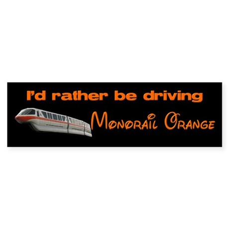 Monorail Orange Bumper Sticker