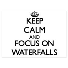 Keep Calm by focusing on Waterfalls Invitations