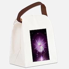 Burst of Purple Hope Canvas Lunch Bag