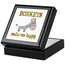 Donkeys Make Me Happy Keepsake Box