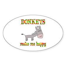Donkeys Make Me Happy Decal