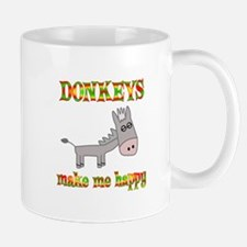 Donkeys Make Me Happy Mug