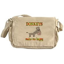 Donkeys Make Me Happy Messenger Bag
