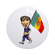 Moldova Boy Ornament (Round)