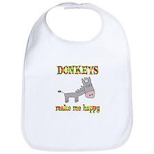 Donkeys Make Me Happy Bib