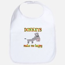 Donkeys Make Me Happy Bib