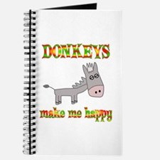 Donkeys Make Me Happy Journal