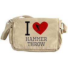 I Heart Hammer Throw Messenger Bag