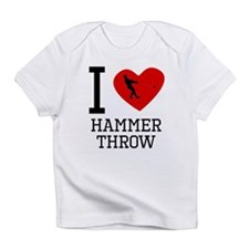 I Heart Hammer Throw Infant T-Shirt