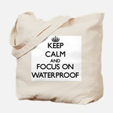 Keep Calm by focusing on Waterproof Tote Bag