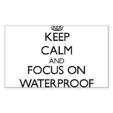 Keep Calm by focusing on Waterproof Decal