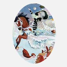 Winter Fairy Ornament (Oval)