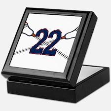 Lacrosse 22 Orange and Blue Keepsake Box