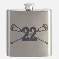 Lacrosse 22 Orange and Blue Flask