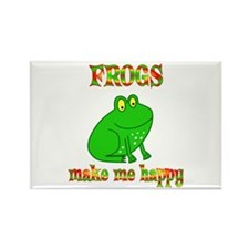 Frogs Make Me Happy Rectangle Magnet