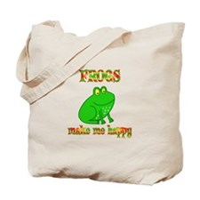Frogs Make Me Happy Tote Bag