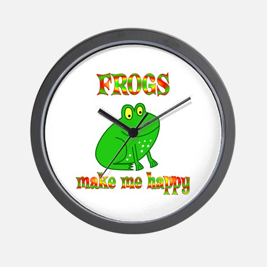 Frogs Make Me Happy Wall Clock