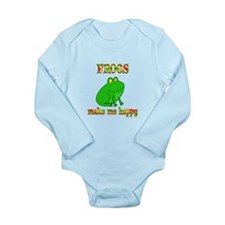 Frogs Make Me Happy Long Sleeve Infant Bodysuit