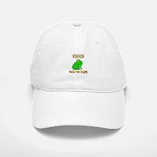 Frogs Make Me Happy Baseball Baseball Cap