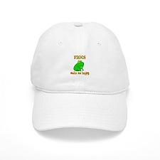 Frogs Make Me Happy Baseball Cap