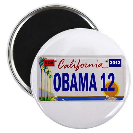 California for Barack Obama 2012 Magnet