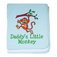 Daddy's Little Monkey baby blanket