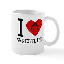 I Heart Wrestling Mugs