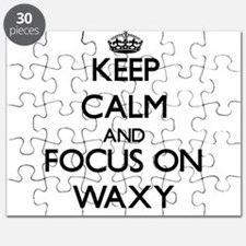 Keep Calm by focusing on Waxy Puzzle