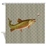 Fish shower curtain Shower Curtains