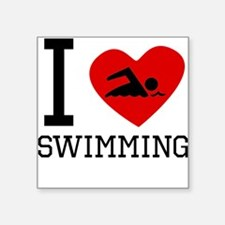 I Heart Swimming Sticker