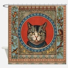 Vintage Cat colorful vintage kitty's life Shower C