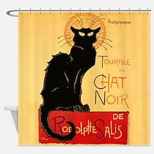 Vintage Black Cat Steinlen Tournee Shower Curtain