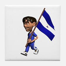 Nicaragua Boy Tile Coaster
