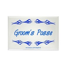 Groom's Posse Rectangle Magnet