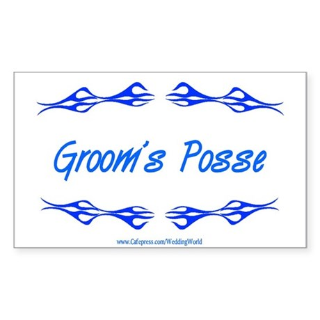 Groom's Posse Rectangle Sticker