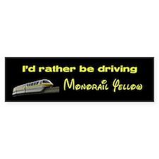 Monorail Yellow Bumper Bumper Sticker
