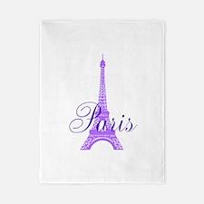 Paris Violet Twin Duvet