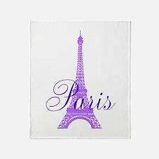 Paris Violet Throw Blanket