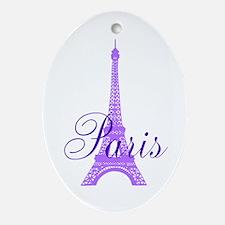 Paris Violet Ornament (Oval)