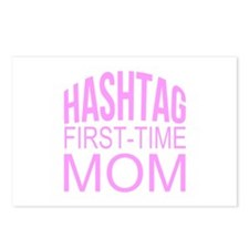 1st Time Mommy Hashtag Postcards (Package of 8)