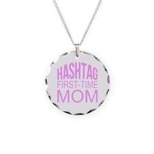 1st Time Mommy Hashtag Necklace