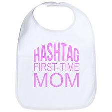 1st Time Mommy Hashtag Bib