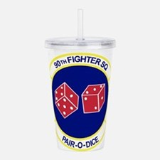 90TH_FIGHTER_f15.png Acrylic Double-wall Tumbler