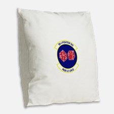 90TH_FIGHTER_f15.png Burlap Throw Pillow